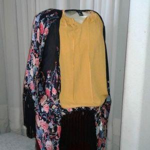 Forever 21 Floral Boho Kimono (L)